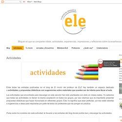 El rincón del profesor de ELE: Actividades