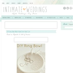 DIY Ring Bowl Made from Oven-Bake Clay