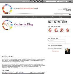 Get in the Ring | Global Entrepreneurship Week