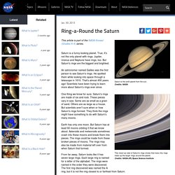 Ring-a-Round the Saturn