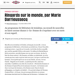 Ringards sur le monde, par Marie Darrieussecq