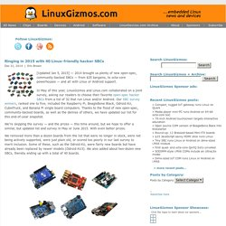 Ringing in 2015 with 40 Linux-friendly hacker SBCs ·  LinuxGizmos.com