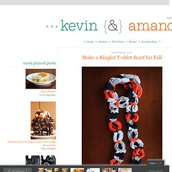 Make a Ringlet T-shirt Scarf for Fall | Kevin & Amanda