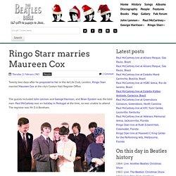 February 11th, 1965 : Ringo Starr marries Maureen Cox