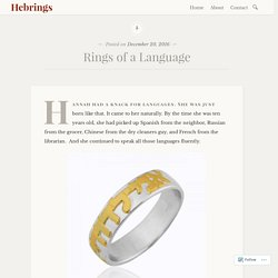 Rings of a Language – Hebrings