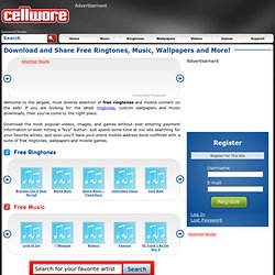 Free Ringtones & Music Downloads for Your Cell Phone | Cellware