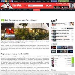 Riot Games encore une fois critiqué