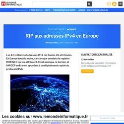RIP aux adresses IPv4 en Europe
