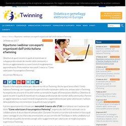 Ripartono i webinar con esperti organizzati dall'Unità italiana eTwinning - eTwinning Italia