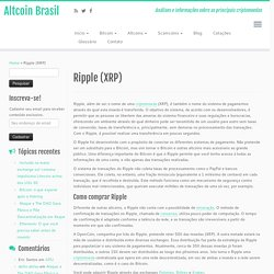 Ripple (XRP) – Altcoin Brasil