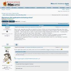 Ripristinare dati applicazione da backup icloud