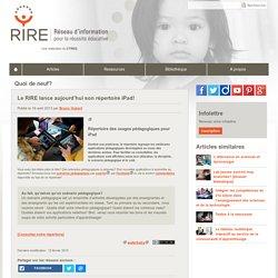 Le RIRE lance aujourd'hui son répertoire iPad!