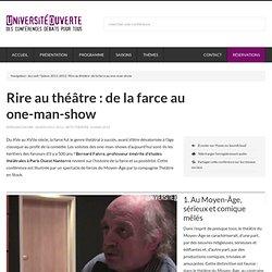 Rire au théâtre : de la farce au one-man-show