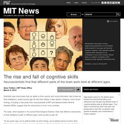 The rise and fall of cognitive skills