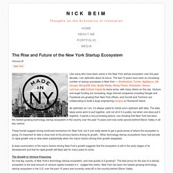 The Rise and Future of the New York Startup Ecosystem