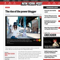 The rise of the power blogger