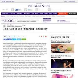 "The Rise of the ""Sharing"" Economy"