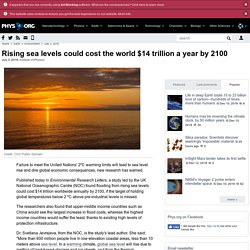 Rising Seas Cost the World $14 trillion a year