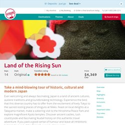 Japan tours. Visit the Land of the Rising Sun with Intrepid Travel AU