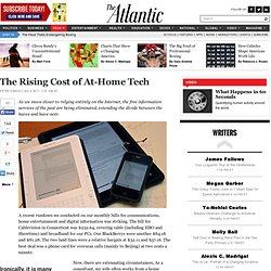 The Rising Cost of At-Home Tech - Peter Osnos - Technology