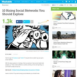 10 Rising Social Networks You Should Explore