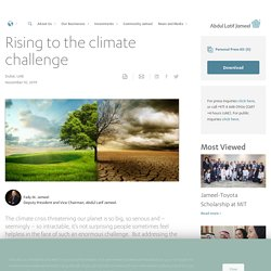 Rising to the climate challenge