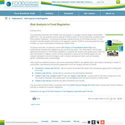 FOODSTANDARDS_GOV_AU - JANV 2014 - Risk Analysis in Food Regulation