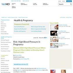 Risk: High Blood Pressure in Pregnancy