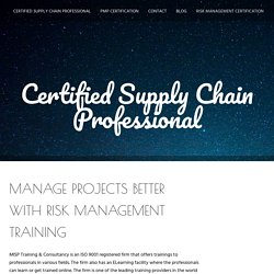 Manage Projects Better With Risk Management Training