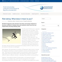 Risk-taking: What does it mean to you?