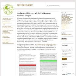 Studiero – riskfaktorer och skyddsfaktorer att diskutera kollegialt