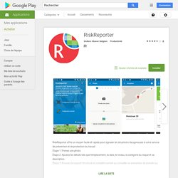 RiskReporter – Applications Android sur Google Play