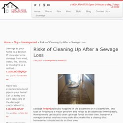 Risks of Cleaning Up After a Sewage Loss