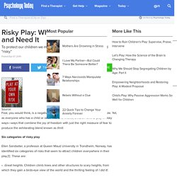 Risky Play: Why Children Love It and Need It