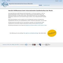 RISM : répertoire international des sources musicales