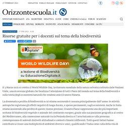 Risorse gratuite per i docenti sul tema della biodiversità