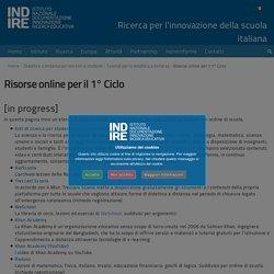 Risorse online per il 1° Ciclo