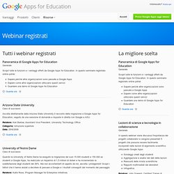 Webinars – Google Apps for Education