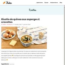 Risotto de quinoa aux asperges & crevettes