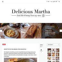 Risotto de calabaza con boletus - Delicious Martha