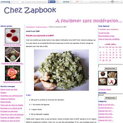 Risotto aux épinards à la MAP - Chez Zapbook