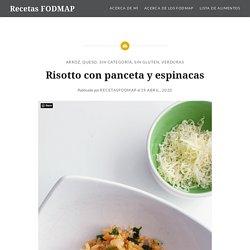 Risotto con panceta y espinacas – Recetas FODMAP