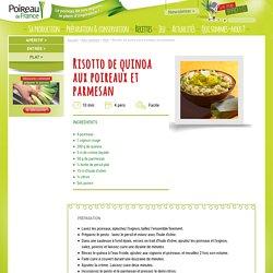 Risotto de quinoa aux poireaux et parmesan