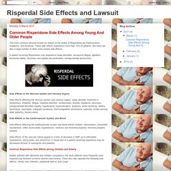 Risperdal Side Effects and Lawsuit: Common Risperidone Side Effects Among Young And Older People