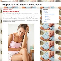 Risperdal Side Effects and Lawsuit: Risperdal lawsuit effects