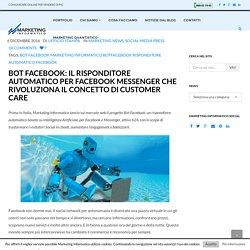 Bot Facebook risponditore automatico per Facebook Messenger