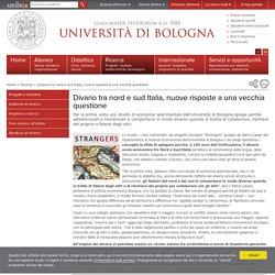 Divario tra nord e sud Italia, nuove risposte a una vecchia questione — Università di Bologna