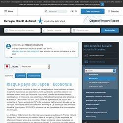 Risque pays du Japon : Economie - Objectif Import Export