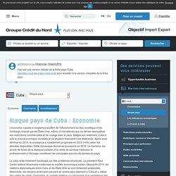 Risque pays de Cuba : Economie - Objectif Import Export