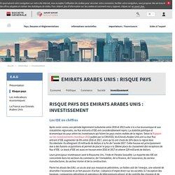 Risque pays des Emirats Arabes Unis : Investissement